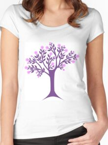 Blossoms tree Women's Fitted Scoop T-Shirt