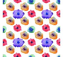 Watercolor flover pattern Photographic Print