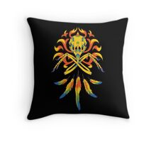 Phoenix Crossbones Throw Pillow