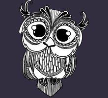Owl mandala - white Womens Fitted T-Shirt