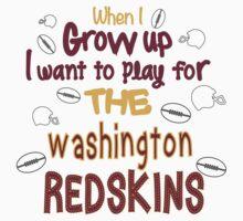 When I Grow Up... (Washington-Football) Kids Clothes