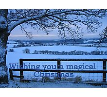 A Winter Wonderland Christmas Card Photographic Print