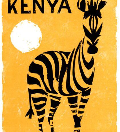 Kenya Africa Vintage Travel Poster Restored Sticker