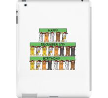 December 17th Birthdays with cats. iPad Case/Skin