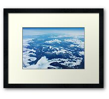View on Mont Blanc Framed Print