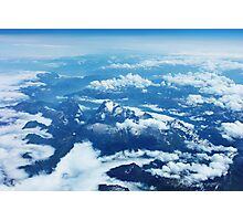 View on Mont Blanc Photographic Print