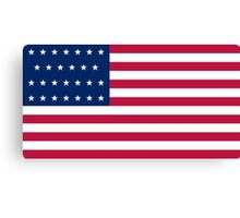 Historical Flags of the United States of America 1845 to 1846 US Flag With 27 Stars and 13 Stripes Canvas Print