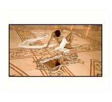 Lord Castenada & The Looking Glass Art Print