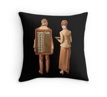 Heads or tails? Throw Pillow
