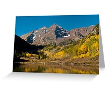 The Maroon Bells In Fall Greeting Card