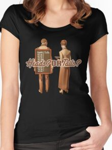 Heads or tails? 2 Women's Fitted Scoop T-Shirt