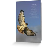 hawk ascending Greeting Card