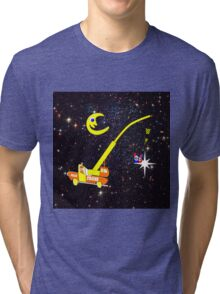 When You Wish Sat On a Star - pillow & tote design, etc Tri-blend T-Shirt