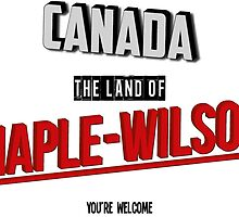 The Land Of MAPLE-WILSON by InvaderInk