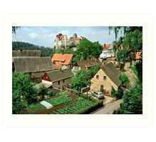 Höhnstein in Saxony, Germany.1991 Art Print