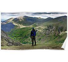 A Walker's Mountainscape - Reason to climb Snowdon Poster