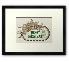 A Merry Christmas Framed Print