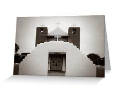Taos Pueblo Church - New Mexico Greeting Card