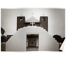 Taos Pueblo Church - New Mexico Poster