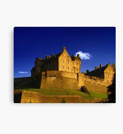 Enchanting Scotland, Edinburgh Castle. Canvas Print