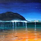 Oil Painting - Mondello Bay, Sicily. Landscape 2010 by Igor Pozdnyakov