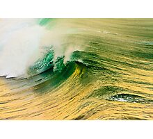 Ocean Wave at Sunrise Photographic Print