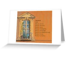Dirty Harriet in France Greeting Card