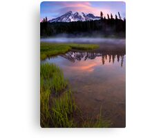 Rainier Sunrise Cap Canvas Print