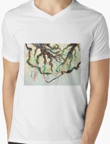 Branches with blossoms Mens V-Neck T-Shirt