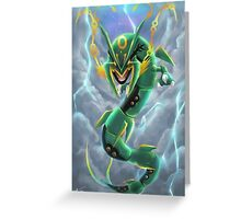 Rayquaza in the Sky Greeting Card