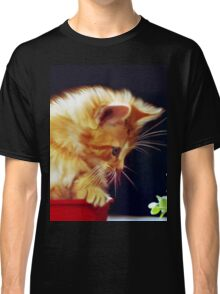 Cat On Red Tin Classic T-Shirt
