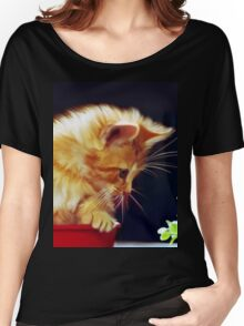 Cat On Red Tin Women's Relaxed Fit T-Shirt