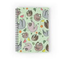 Sloth Party Spiral Notebook