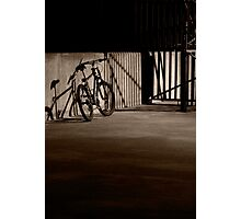 Bicycle in the Shadows Photographic Print