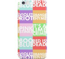 Colour Puns iPhone Case/Skin