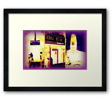 Heat Maps Effect and fireside at Wild West City Framed Print