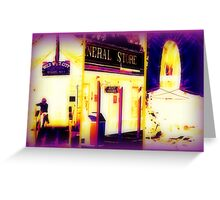 Heat Maps Effect and fireside at Wild West City Greeting Card