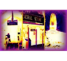 Heat Maps Effect and fireside at Wild West City Photographic Print