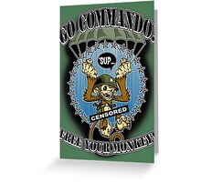 Commando! Greeting Card