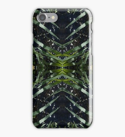 Water drops, nature, stems iPhone Case/Skin
