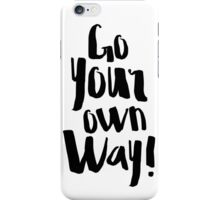 Fleetwood Mac Go Your Own Way  iPhone Case/Skin