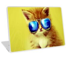 Cute Kitty with Sunglasses Laptop Skin