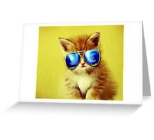 Cute Kitty with Sunglasses Greeting Card