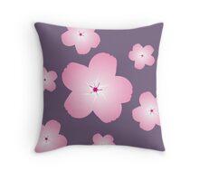 Cherry Blossom (Purple) Throw Pillow