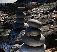 balancing stones  by larry flewers