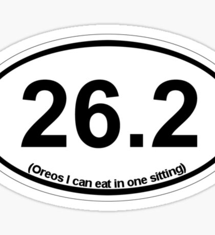 26.2 (Oreos I can eat in one sitting) Sticker