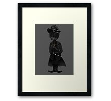 The Freak In The Gas Mask Framed Print