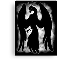 Spooky Peacock Canvas Print