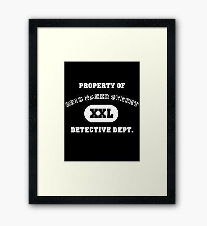 Property of 221B Baker Street - Detective Dept. Framed Print