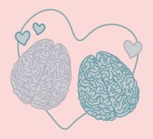 Pastel Brains in Love Kids Clothes